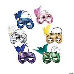 Mardi Gras Sequin & Feather Masks