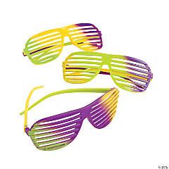 Mardi Gras Shutter Glasses