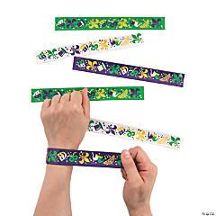 Mardi Gras Slap Bracelets