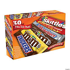 MARS Chocolate and Candy Full Size Variety Pack, 30 Count