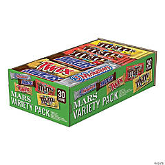 MARS Chocolate Full Size Candy Bars Variety Pack - 30 Count Box