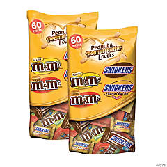 MARS Chocolate Peanut & Peanut Butter Lovers Fun Size Candy Variety Mix - 2 Pack, 35.04oz bags