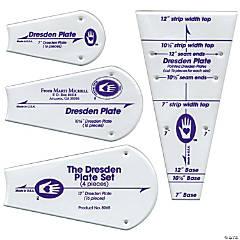 Marti Michell Perfect Patchwork Template-Regular Dresden Plate 4/pack