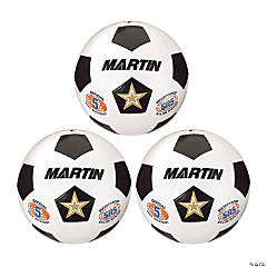 Martin Sports Soccer Ball, Size 5, Pack of 3