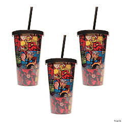 Marvel™ Grid Tumbler with Straw
