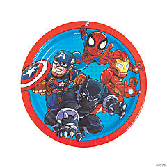 Marvel Superheroes Round Paper Dinner Plates - 8 Ct.