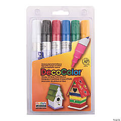 Marvy® Primary Colors DecoColor™ Broad Tip Paint Markers