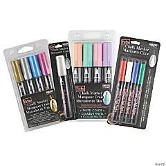 Marvy Uchida® Bistro Chalk Markers, Chisel, Fine & Broad Tip, 13 Color Set