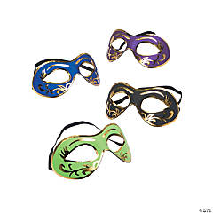 Masquerade Masks with Gold Accents