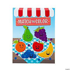 Match the Color Fruit Sticker Scenes