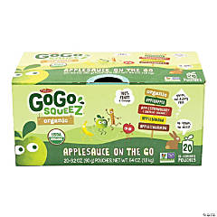 MATERNE GoGo Squeez Organic Applesauce On-The-Go Variety, 3.2 oz, 20 Count