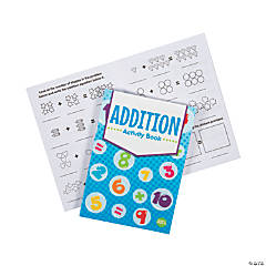 Math Addition Activity Books with Stickers