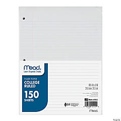 Mead College Ruled Filler Paper 150 Sheets, Set of 12 packs
