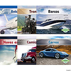 Medios de transporte (Transportation), Spanish Book Set, Set of 6