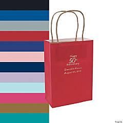 Medium 50th Anniversary Personalized Kraft Paper Gift Bags
