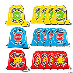 Medium Anti-Bullying Drawstring Bags