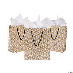 Medium Art Deco Gift Bags with Tags