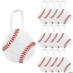 Medium Baseball-Shaped Tote Bags
