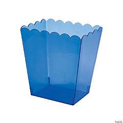 Medium Blue Scalloped Plastic Containers