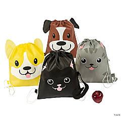 Medium Cat & Dog Drawstring Bags
