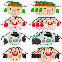 Medium Cheery Christmas Drawstring Bags