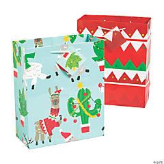 Medium Christmas Cactus Gift Bags