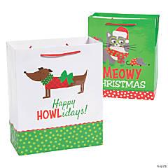 Medium Christmas Cat & Dog Gift Bags