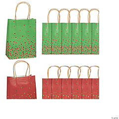 medium christmas sprinkle kraft paper gift bags