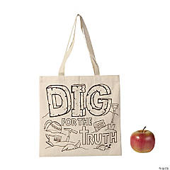 Medium Color Your Own Dig VBS Tote Bags