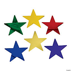 Medium Colorful Metallic Stars