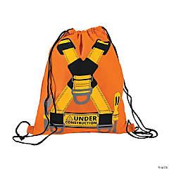 Medium Construction Drawstring Bags