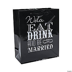 Medium Eat, Drink & Be Married Welcome Gift Bags with Tags