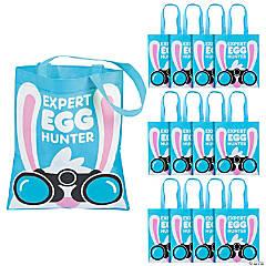 Medium Expert Easter Egg Hunter Tote Bags