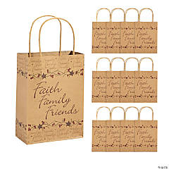 "Medium ""Faith, Family, Friends"" Gift Bags"