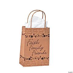 """Medium """"Faith, Family, Friends"""" Gift Bags"""