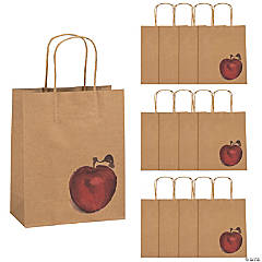Medium Fall Festival Apple Kraft Paper Gift Bags