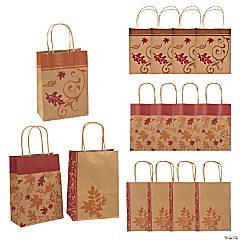 Medium Fall Kraft Paper Gift Bags
