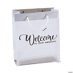 Medium Frosted Wedding Welcome Gift Bags