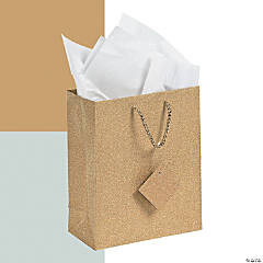 Medium Glitter Gift Bags with Tags