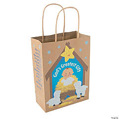 Medium God's Greatest Gift Kraft Paper Gift Bags