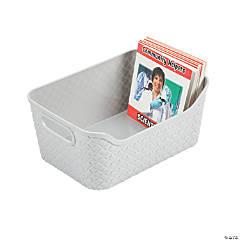 Medium Grey Storage Baskets with Handles