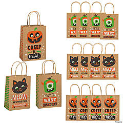 Medium Halloween Character Print Gift Bags