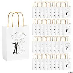 Medium Happy Couple Kraft Paper Gift Bags - 36 Pc.
