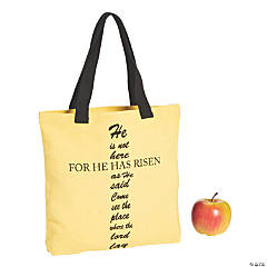 Medium He Has Risen Cross Canvas Tote Bag