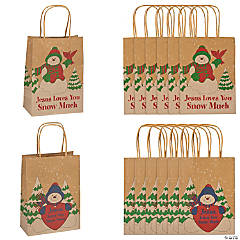 Medium Jesus Loves You Snow Much Gift Bags