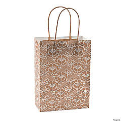 Medium Lace Kraft Paper Gift Bags