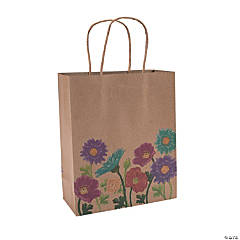 Medium Love in Bloom Wedding Kraft Paper Gift Bags