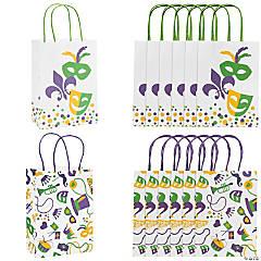 Medium Mardi Gras Kraft Paper Gift Bags