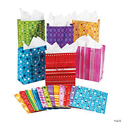 Medium Mega Colorful Print Gift Bags