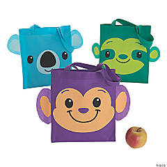 Medium Monkey, Koala & Sloth-Shaped Tote Bags